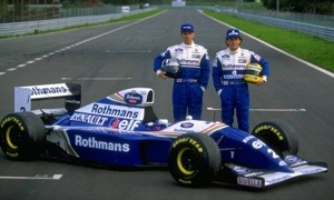 Senna and Hill with Williams-Renault FW16